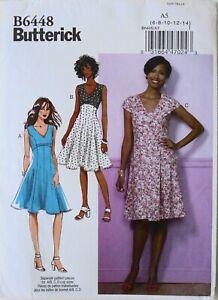 Butterick 6448 Misses Dresses Sewing Pattern Sz 6-14