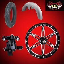 "Harley 26 inch Big Wheel Builder kit, Wheel, Tire, Neck, & Fender, ""6ix Shooter"""