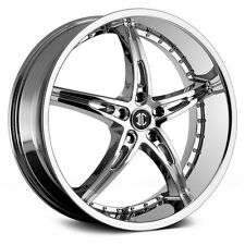 22 Chrome Wheels & Tires 2Crave no.14 Stagger Rims Fit Challenger Charger 300C