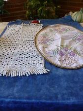 lot anciens napperons faits main ,ovale et rectangulaire