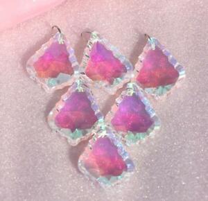 10Pc Crystal Chandelier Mapleleaf Pendant Rainbow Glass Suncatcher Wedding Decor