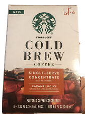 Starbucks Cold Brew Coffee Single Serve Concentrate Caramel Dolce 6 Pods