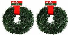 2 Pack 15Ft Christmas House Artificial Pine Garland Ornament Holiday Decoration