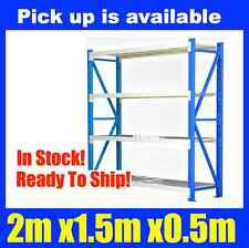 NEW 2m X 1.5m Steel Metal GARAGE STORAGE WAREHOUSE SHELVING RACKING Shelves NEW