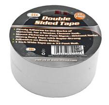 "2 Rolls 1"" Wide 33 Foot Long Double Sided Adhesive Tape"