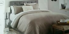 Threshold king reversible herringbone flannel duvet 3PC  taupe