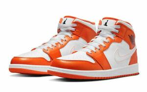 Nike Air Jordan 1 Mid SE Metallic Orange White DM3531-800 Men's Sizes 12