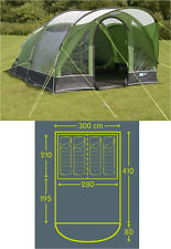 Kampa Brean 4 berth man person festival fishing tent CT3067 2018