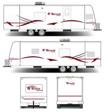 ORIGINAL LOOK WILDERNESS FLEETWOOD RV CAMPER WHEEL TRAILER DECALS STICKERS S4