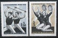 AUSTRIA 1965 4th Gymnaestrada Vienna: Gymnastics. Set of 2. MNH. SG1453/1454.