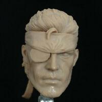 Blank Hot 1/6 Scale Metal Gear Solid Snake Head Sculpt Unpainted