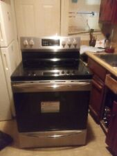 Frigidaire Gallery stove  mostly black which silver it's standard