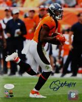 Courtland Sutton Signed Broncos 8x10 PF Photo Running w/ Ball- JSA W Auth *Blue