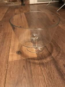 Large Clear Glass Trifle Bowl Desert Footed Salad Sundae Serving Dish
