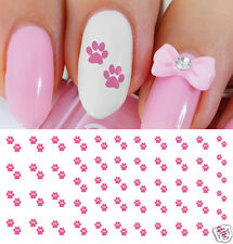 Hot Pink Paw Prints Nail Art Waterslide Decals - Salon Quality  pet owners!