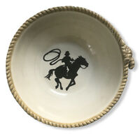 "SOMONA HAPPY TRAILS SOUP-CEREAL-CHILI-SALAD BOWL 7"" COWBOY RANCH WESTERN HORSE"