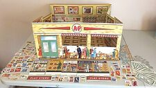 Vintage A&P Life Like Play Grocery Store...cardboard stand ups, play money....