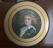 Antique Flue Cover Sweet Little Girl Dressed in Green
