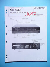 Manuel de Reparation pour Kenwood GE-930, Original