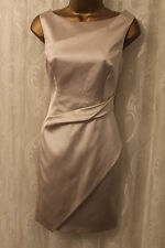 Karen Millen Signature Fold Draped Satin Pencil Cocktail Party Dress 10 38 £185