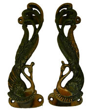 Peacock Design Antique Style Handmade Brass Door Pull Handle Home Decor P311