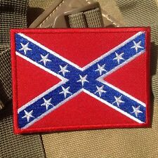 The Southern Alliance Civil War BADGE MORALE TACTICAL EMBROIDERED PATCH RED BLUE