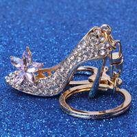 Key Ring Crystal Rhinestone High Heel Keychain Car Handbag  Keyring Keyfob LD