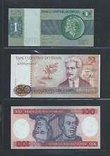Brésil  Lot de 3 billets différents  en état NEUF Lot Numéro 6