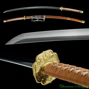 "45"" Nodachi Samurai Sword Japanese Katana High Manganese Steel Blade Sharp #2438"