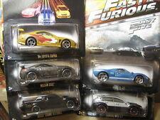 Hot WHeeLS fast & furious ford + subaru + nissan + toyota +buick hotwheels 5pcs
