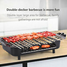 Electric Indoor outdoor Grill Portable Smokeless Non Stick Cooking BBQ Griddle