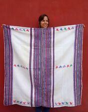 Hand-woven Antique Guatemalan Textile: Very Rare Tecpan Ceremonial Huipil 1960