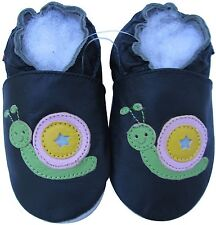 shoeszoo snail black 12-18m S new soft sole leather baby shoes