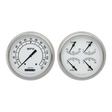 *1951-1952 Chevrolet Chevy Car Classic White Package Gauge Set