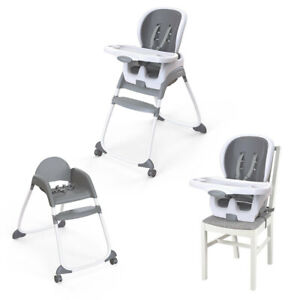 Ingenuity SmartClean Trio 3-in-1 High Chair Feeding Seat for Baby 6m+ Slate/Grey
