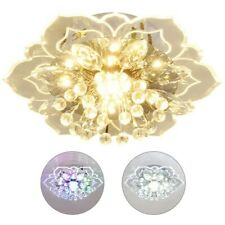 Modern Crystal LED Ceiling Light Chandelier Aisle Hallway Pendant Lamp Fixtures