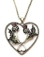 Thistle Necklace By Equilibrium Long Chain Heart Pendant