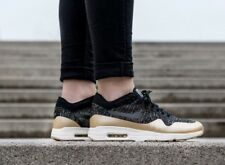Nike Air Max 1 Ultra 2.0 Limited Flyknit Black Gold Womens Trainers Size UK 4.5
