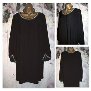 LADIES WALLIS DRESS SIZE 16,Black Jewel embellished Evening Party Occasion dress