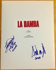 LA BAMBA signed Movie Script Screenplay Lou Diamond Phillips Danielle Von Zernec