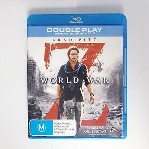 World War Z Bluray Movie - Free Postage Blu-ray - Zombie Apocalypse