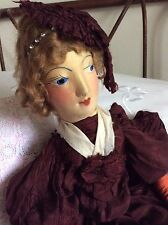 Original Antique French Boudoir Bed Doll ~ Rare Estate Find ~1800's ~ Collectors