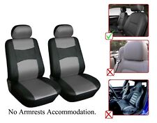 Vinyl Leather Two Front Car Seat Covers For Chevrolet- L1510 Black/Gray