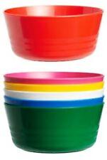 6er Pack Kunststoff Schüssel Geschirr bunt Plastik Kinder Unterwegs Outdoor Gefä