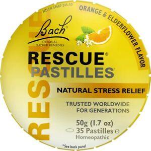 Bach Original Flower Remedies Rescue Pastilles - Orange & Elderflower 1.7 oz ...