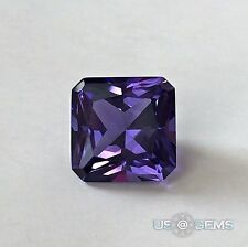 Tanzanite. Radiant cut 10x10mm. 4,9 Ct. Created Gemstone Monosital. US@GEMS