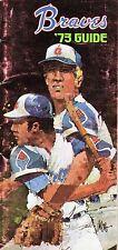 1973  Atlanta Braves, Baseball Media Guide, Phil Niekro, Hank Aaron ~ Good