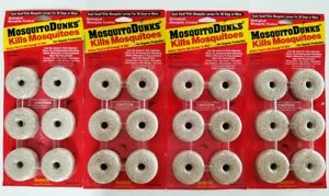 4-Pack / 24 Discs total - Summit MOSQUITO DUNKS - Biological Safe Larvae Control