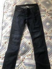 H&M Dark Blue Straight Legged Jeans 33 32