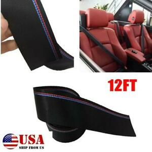 12FT Car polyester Harness Ribbon webbing racing safety seatbelt for BMW 3 Color